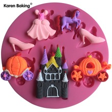Dress ,Horse, Shoes Design Christmas Fondant Silicone Cake Mold Cupcake Cake Decorating Tools Cake Stand Candy C637