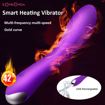 20 Speeds Powerful USB Charging Vibration Dildo Vibrators For Women,G Spot Smart Heating Vibrator Adult Sex Toys Sex Products O3