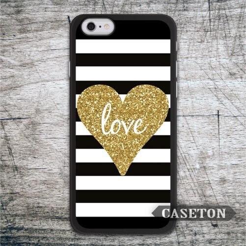 Golden Heart Glitter font b Case b font For font b iPhone b font font b