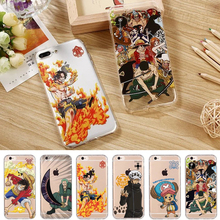 Popular Cartoon Anime One Piece Monkey D. Luffy Shockproof Soft TPU Case for iPhone 7 6 6s Plus Cell Phone Cover Coque Fundas
