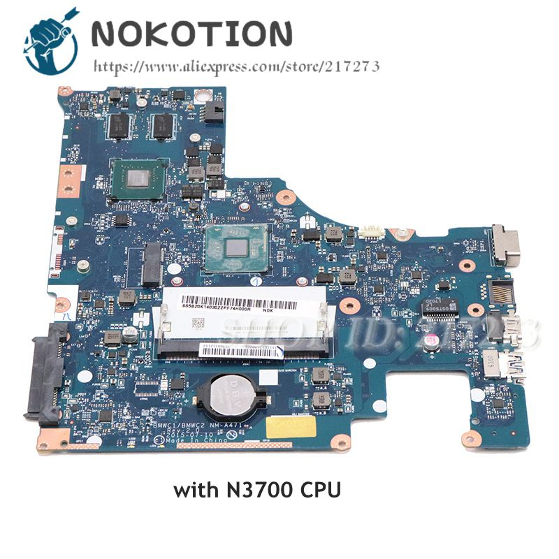 NOKOTION 5B20K14030 BMWC1 BMWC2 NM-A471 For Lenovo 300-15IBR Laptop motherboard SR29E N3700 CPU 920m GPU