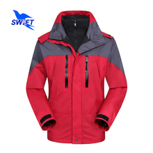 Top Quality 2 In 1 Waterproof Hiking Jacket Men Outdoor Sport Windbreaker Breathable Fishing Clothing Tech Fleece Ski Clothes