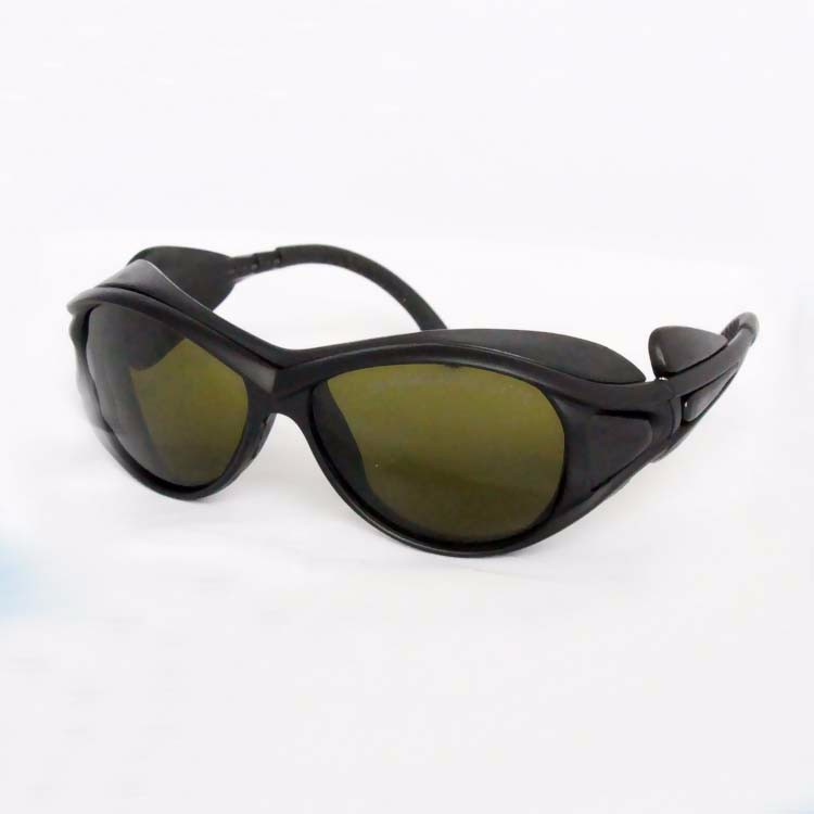 laser safety glasses for 190-450nm&amp;800-2000nm 266nm,405-450nm 808 980 1064nm  to 1610nm O.D 4+ CE<br>
