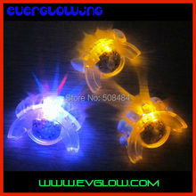 free shipping 24pcs/ lot 1*6.5*3.5cm LED Mouth Guard flashing mouth piece mouth light for halloween party Christmas
