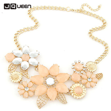 South Korea Lace Crochet Pure And Fresh Temperament Water Flowers Crystal chokers necklaces for women clavicle collier femme(China)