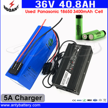 Electric Bike Battery 36V 40Ah Rechargeable Battery Pack 36V With 5A Charger For 8FUN Bafang 1500W Motor Free Shipping