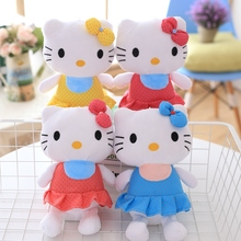 32CM Top Quality Cheap Hello Kitty, plush toys for children kids baby toy,lively lovely doll hello kitty toy(China)