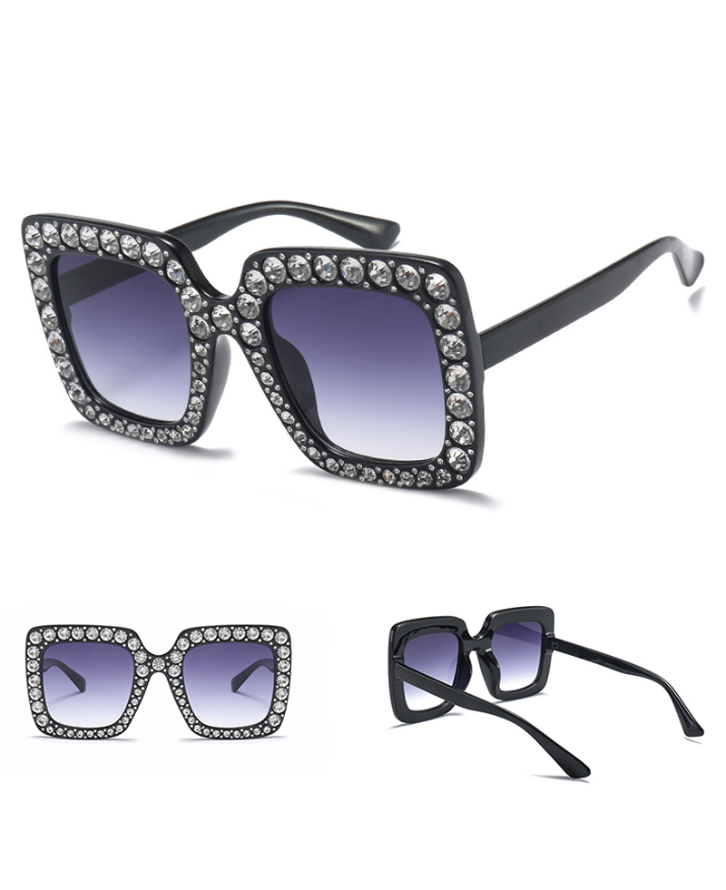 rhinestone sun glasses for women luxury brand 7080 details (3)