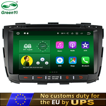 GreenYi HD Android 6.0 or 7.1 Car DVD Player Fit Kia Sorento 2012 2013 2014 Bluetooth Radio TV 4G WiFi GPS Navigation Camera DVR(China)