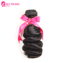 AliPearl Brazilian Loose Wave weave Bundles Natural Black Color Human HAIR Weft Bundle Free Shipping Non Remy Hair 1 Piece Only(China)