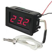 LED DC12V Digital Thermocouple Thermometer Temperature Meter 0~999 Celcius with Probe