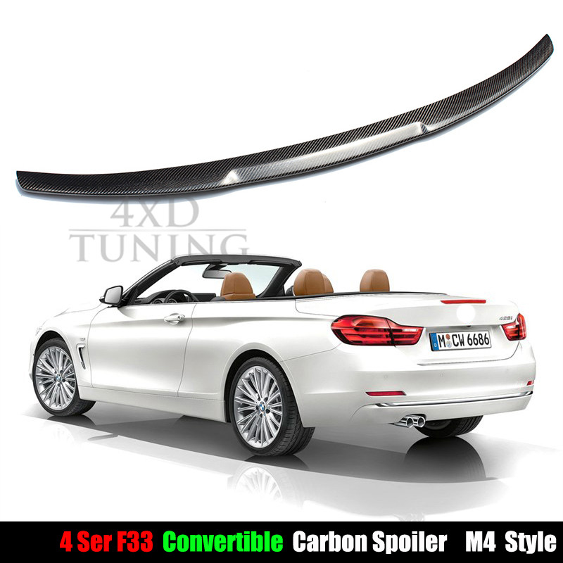 2014 2015 2016 M4 Style f33 carbon spoiler for BMW 4 Series F33 Convertible Carbon Fiber Rear Trunk Spoiler<br><br>Aliexpress