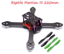 Carbon Fiber Reptile Martian III 190/220/250 190mm 220mm 250mm 4-Axis Quadcopter Frame 3.5 mm Arm + Distribution Board For FPV(China)