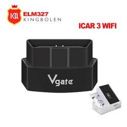 ELM327 Bluetooth/Wifi iCar 3 OBDII автоматический считыватель кодов ELM 327 Icar Pro OBD2 диагностический инструмент Поддержка 12 В автомобиля для Android/IOS