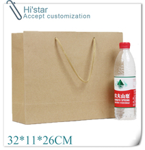 32*11*26CM 10pcs Elegant Gift bag/big size/ Paper gift bag/Kraft gift bag with handle/ Excellent Quality/retail(China)
