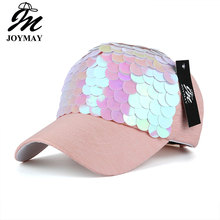 JOYMAY Spring New Fashion Women Baseball cap with Sequins Shining Bling Adjustable Leisure Casual Snapback HAT B438(China)