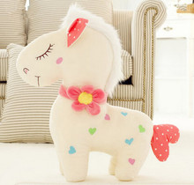 super cute 30cm pony horse plush toy lovers pillow mascot horse stuffed animal doll best girl birthday gift