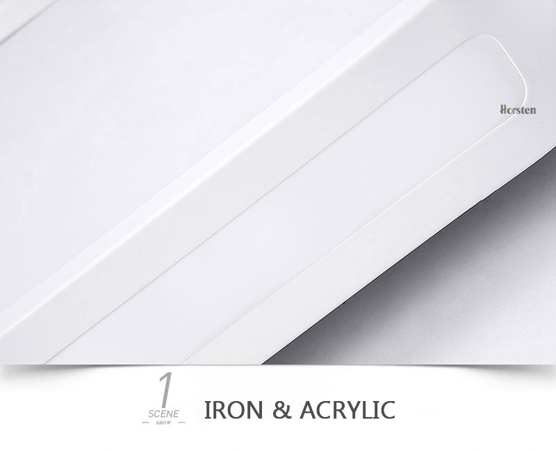 Modern Simple Acrylic LED Ceiling Lights Minimalist Rectangular Ceiling Lamp With Romote Control For Living Room Bedroom 220V (12)
