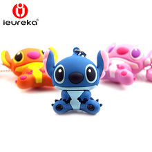64GB/8GB/16GB/32GB Genuine cartoon USB flash drive cute thumb memory stick stitch pen drive usb flash beautiful Free shipping