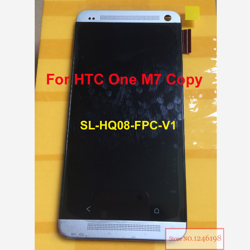 Full LCD Display + Touch Screen Digitizer Assembly For  Copy One M7 SL-HQ08-FPC-V1 Replacement Repair Parts<br>