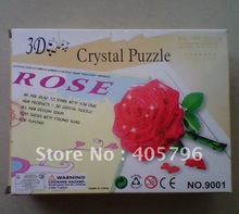 DIY TOY 3D Crystal Puzzle (rose pattern) Educational toy(China)
