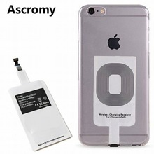 Ascromy QI Wireless Charging Receiver Pad for Apple iPhone 7 6 S 6S iPhon 5 C 5S SE 5C iPhone7 Qi Wireless Charger Patch Adapter(China)