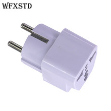 2 stücke Neue CN UNS Zu DE Plug Adapter stecker Konverter Travel Electrical Power Adapter Buchse China Zu EU stecker(China)