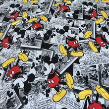 100 * 160cm Lovely Cartoon Mickey Mouse Soft Knit Cotton Fabric Sew Patchwork diy Cloth Father-Son Clothing, BABY'S CLOTHING
