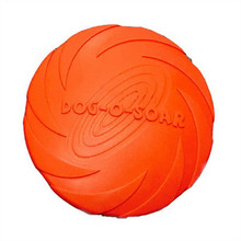 Hot Sale Eco-friendly Pet Product Natural Rubber Material Pet Dog Toy Frisbee Dog Training 3 Sizes Free Shipping(China)