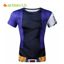 Actionclub Men Compression Outdoor T Shirt Quick Dry Breathable T-Shirts Summer 3D Print Animation Cartoon Shirts SR291