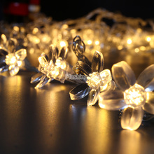 3M 24 LED Cherry Flower navidad String Fairy Lights Battery flashing porch light Wedding Holiday Party Decorations Lighting