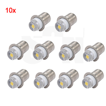 10Pcs 6000k White 3V-18V Positive earth Real Circuit PR2 P13.5S 0.5W LED upgrade bulb lamp for Maglite Torch Flashlight(China)