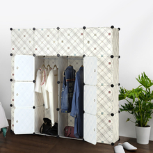 FR US UK Stock iKayaa Fashion Multi-use Clothes Closet Wardrobe Cabinet DIY Cloth Shoes Storage Organizer Furniture(China)