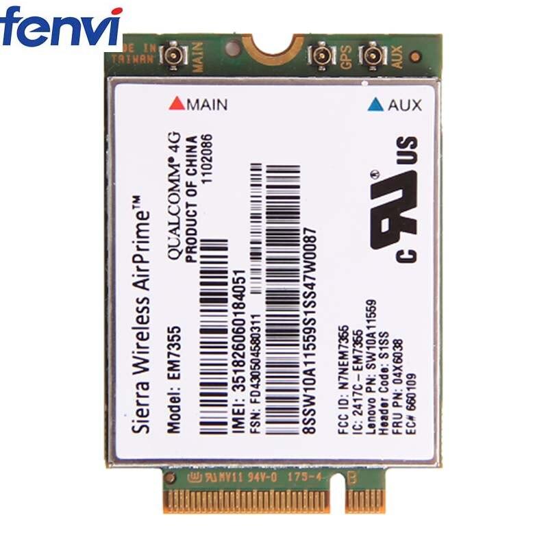 Sierra EM7355 LTE 4G WWAN Module for ThinkPad X1 Carbon T440 X240 04W3801