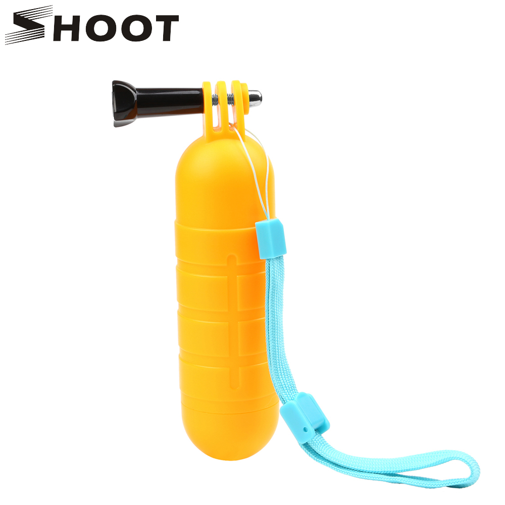 SHOOT Waterproof Bobber Floating Non slip Hand Bar Selfie Grip for Gopro 8 7 5 6