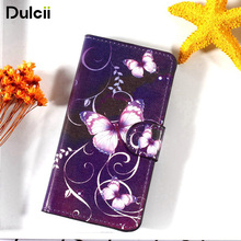 DULCII For Lenovo A 2010 A2010 August 2010 Flip Case PU Leather Card Holder Stand Smartphone Cover Fundas Butterfly Bag