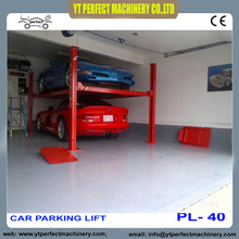 four post Car Parking Lift High Quality Chain Car Parking Lift PL-40(China)