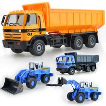 Alloy engineering model shop fork truck loading dump truck kids children's toy model christmas new year gift collection 1:50(China)