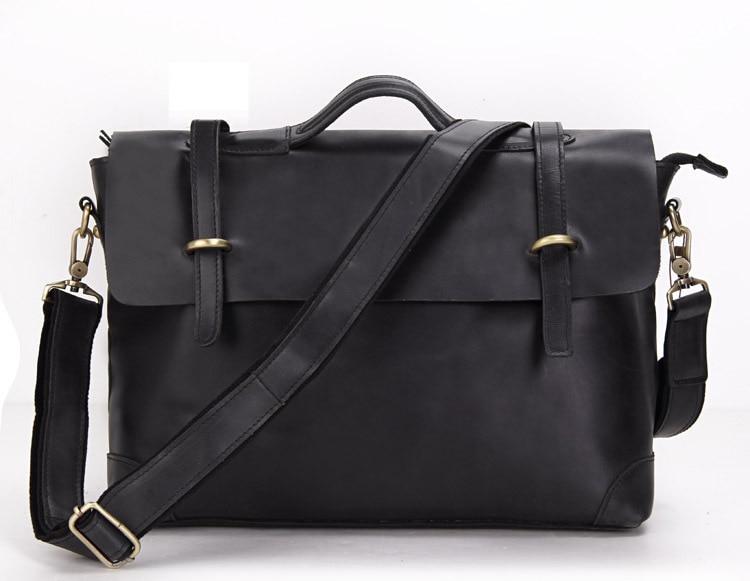 NEEKEND HS0342 Business Genuine Leather Black Big Notebook Laptop Zipper Handbag Shoulder Crossbody Briefcase Bag For Man<br><br>Aliexpress