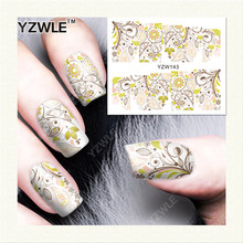 YZWLE  1 Sheet DIY Designer Water Transfer Nails Art Sticker / Nail Water Decals / Nail Stickers Accessories (YZW-143)
