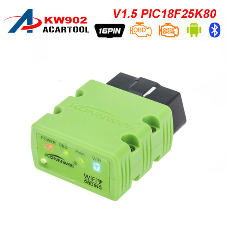 Konnwei KW902 OBDII OBD2 Scanner Car Diagnostic Reader Tool WIFI Connecting Fit for IOS Android Smart Phones Tablets Orange