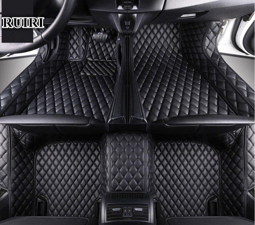 Veeleo 6 Farben Leder Auto Boden Matten für Honda Civic 4 türen 2016-2018 Vollen Satz Alle Wetter Wasserdicht auto Matten 3D Teppiche