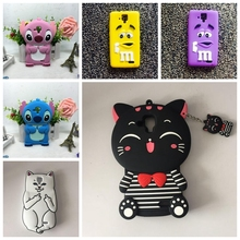 For Lenovo A536 Case 3D Cartoon Cat Candy Stitch Rubber Silicon Cover Case For Lenovo A536 A358T Back Cover