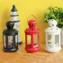Fashion classical tieyi mousse vintage wall lamp lantern glass candle table lantern dining table decoration