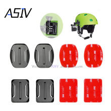4 PCS Flat Curved Mount Set Sticker 3M Adhesive for Gopro Hero 5 4 3+ 3 Xiaomi Yi SJ4000 SJ5000 Action Camera Go pro Accessories