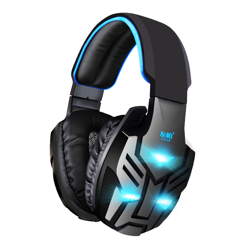 Gaming Headset For PC Tablet Mobile Earphones USB Wired Heavy Bass Headphones LED Luminous Headphone With Noise Cancelling Mic<br><br>Aliexpress