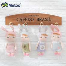 Hanging Mini Doll Cute Plush Stuffed Backpack Pendant Baby Kids Toys Angela Rabbit Sweet Dolls for Birthday Xmas Gift Metoo Doll(China)