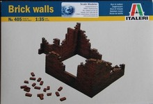 Out of print! Italeri 1:35 Scale Brick walls Accessories, Dioramas 405