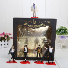5pcs/set 12cm Michael Jackson MJ PVC Action Figure Model Toy(China)