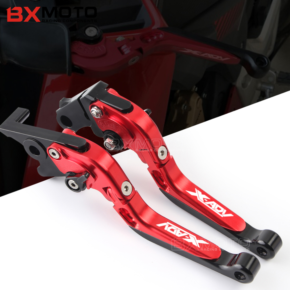 with Logo X-ADV Motorcycle CNC Adjustable Extendable Brake Clutch Levers For Honda XADV 750 2017 2018<br>